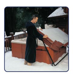 Hot tub accessories for hot spring spas mountain hot tub bozeman butte and helena montana - Hot tub cover lift with and without gas shocks ...